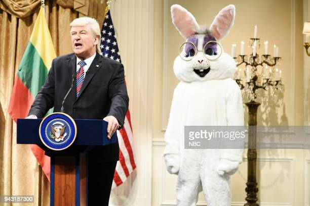 LIVE Episode 1742 Chadwick Boseman Pictured Alec Baldwin as President Donald Trump during 'Trump Baltic States Cold Open' in Studio 8H on Saturday...