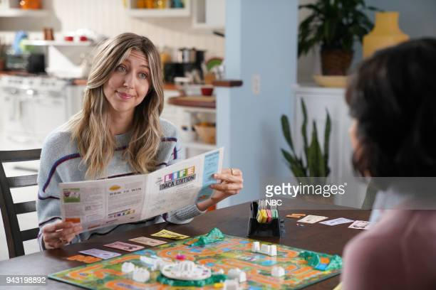 LIVE Episode 1742 Chadwick Boseman Pictured Heidi Gardner during 'The Game of Life' on Saturday April 7 2018