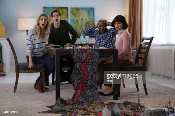 "Episode 1742 ""Chadwick Boseman"" -- Pictured: Heidi Gardner, Pete Davidson, Chris Redd, Melissa Villaseñor during 'The Game of Life' on Saturday,..."