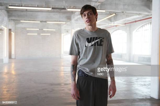LIVE Episode 1742 Chadwick Boseman Pictured Pete Davidson during 'Nike Women's Ad' on Saturday April 7 2018