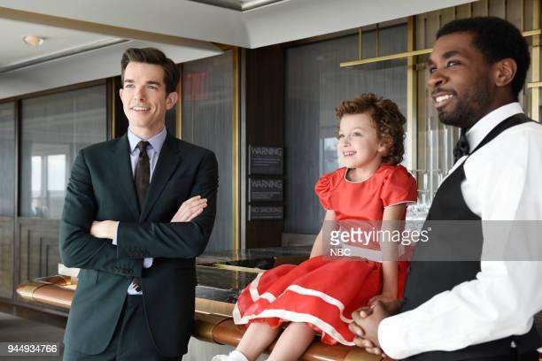 LIVE Episode 1743 'John Mulaney' Pictured Host John Mulaney during a promo in Rockefeller Plaza