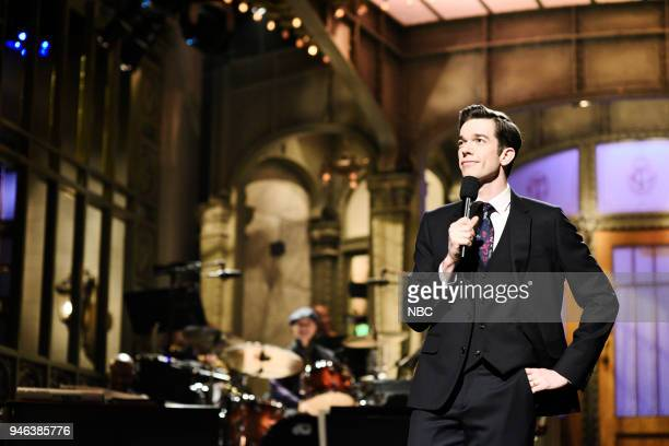 """Episode 1743 """"John Mulaney"""" -- Pictured: John Mulaney during the Opening Monologue in Studio 8H on Saturday, April 14, 2018 --"""