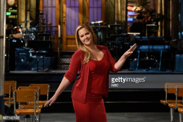 Host Amy Schumer during a promo in Studio 8H