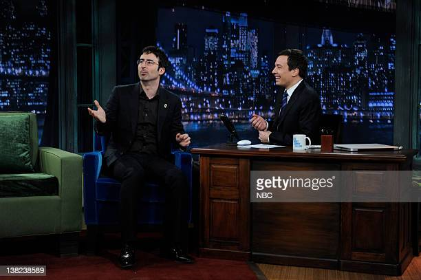 FALLON Episode 176 Airdate Pictured Comedian John Oliver during an interview host Jimmy Fallon on January 7 2010