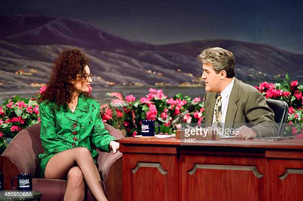 TV personality Lisa Kennedy Montgomery during an interview with host Jay Leno on February 23 1993