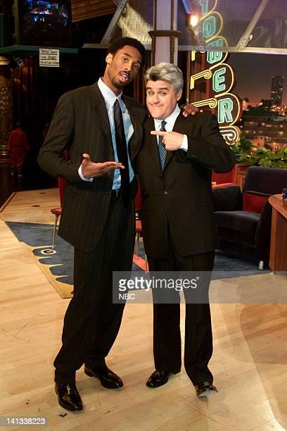 Basketball player Kobe Bryant and host Jay Leno on February 8 2000