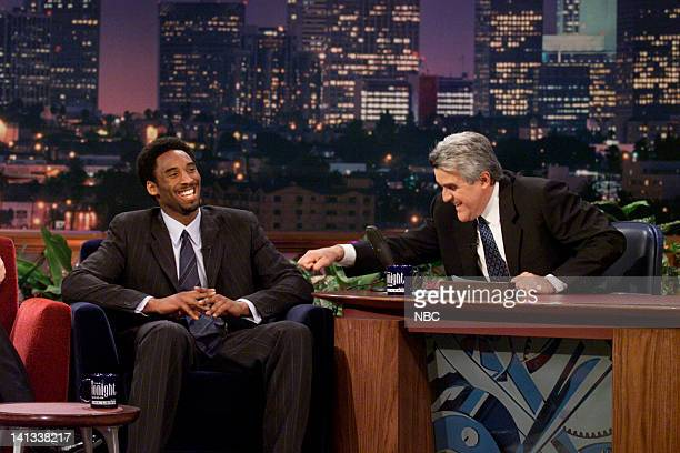 Basketball player Kobe Byrant during an interview with host Jay Leno on February 8 2000