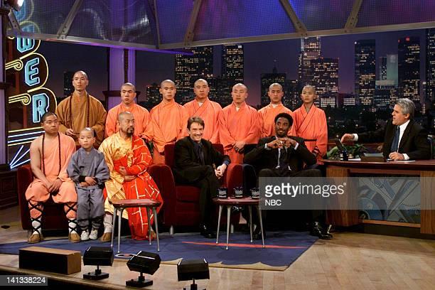 Shaolin Monks comedian Martin Short basketball player Kobe Bryant and host Jay Leno on February 8 2000
