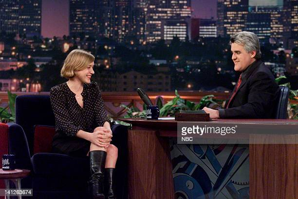 Actress Chloe Sevigny during an interview with host Jay Leno on March 8 2000