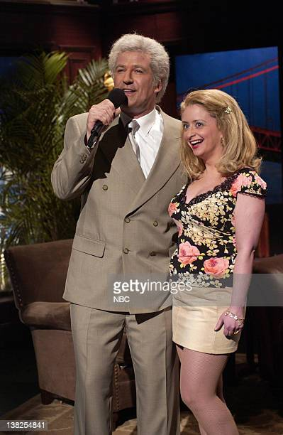 LIVE Episode 18 Air Date Pictured Alec Baldwin as Tony Bennett Rachel Dratch during The Tony Bennett Show skit on April 20 2002