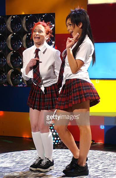 LIVE Episode 18 Air Date Pictured Rachel Dratch as Tasha of DADI Lindsay Lohan as Natasha of DADI during the Club Traxx skit on May 1 2004