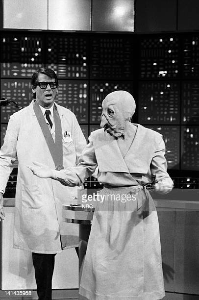Episode 18 -- Pictured: Barry Bostwick as Phillip Doyle and Robin Duke as Turkey Lady during the 'The Turkey Lady' skit on May 5, 1984 -- Photo by:...