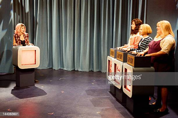 Courteney Cox as Debbie Luciano Adam Sandler as Lucy Brawn David Spade as Christy Henderson Chris Farley as Cindy Crawford during the 'Gapardy' skit...