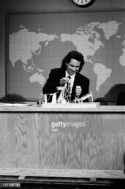 Dennis Miller during the 'Weekend Update' skit on April 22 1989 Photo by Raymond Bonar/NBC/NBCU Photo Bank