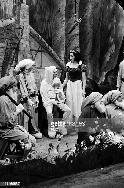during the 'Frost White and the Seven L'll Men' skit on April 22 1989 Photo by Raymond Bonar/NBC/NBCU Photo Bank