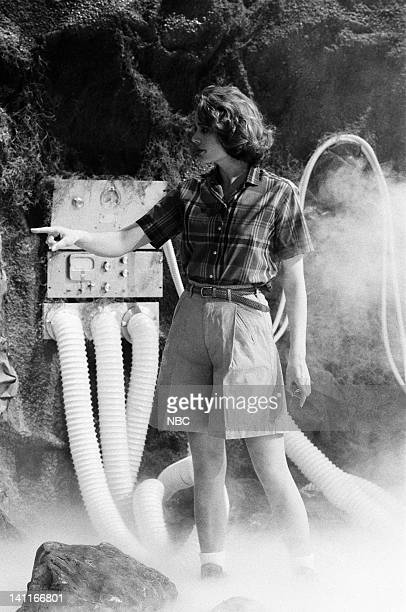 Geena Davis as hiker during the 'Suspended Animation Chambers' skit on April 22 1989 Photo by Raymond Bonar/NBC/NBCU Photo Bank