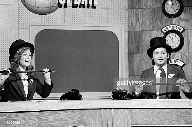 Jane Curtin Bill Murray during the 'Weekend Update' skit on May 12 1979 Photo by