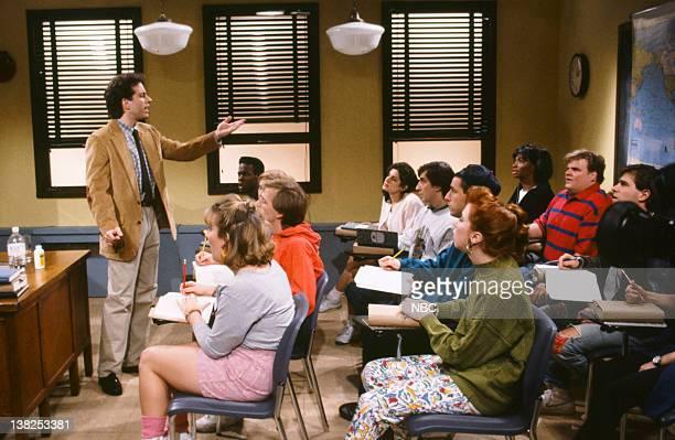 Jerry Seinfeld as Mr Thompson Chris Rock as student Adam Sandler as Larry Ellen Cleghorne as Sabrina Chris Farley as Randy during the 'History Class'...