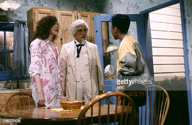Joan Cusack as Tracy Billy Martin as Colonel Harland Sanders Danitra Vance as Dana during the 'My Friend' skit on May 24 1986