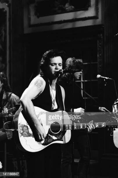 Musical guest John Mellencamp performs on April 22 1989 Photo by Raymond Bonar/NBC/NBCU Photo Bank