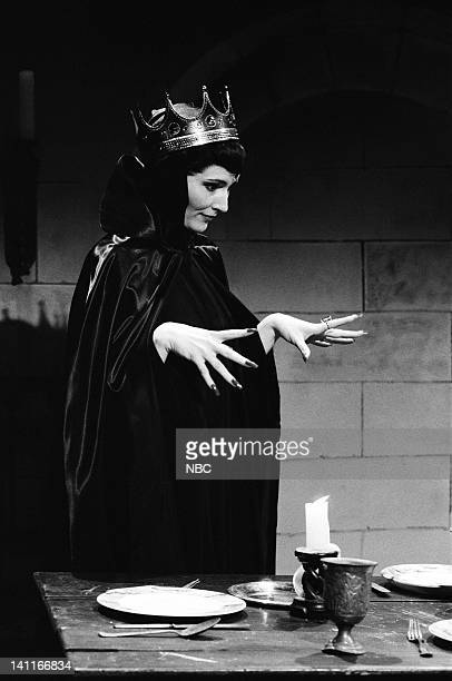 Nora Dunn as evil stepcousin during the 'Frost White and the Seven L'll Men' skit on April 22 1989 Photo by Raymond Bonar/NBC/NBCU Photo Bank