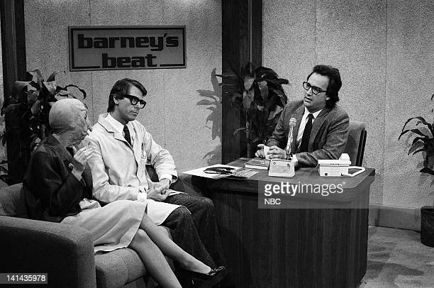Episode 18 -- Pictured: Robin Duke as the Turkey Lady, Barry Bostwick as Phllip Doyle and Jim Belushi as Barney during the 'Barney's Beat' skit on...