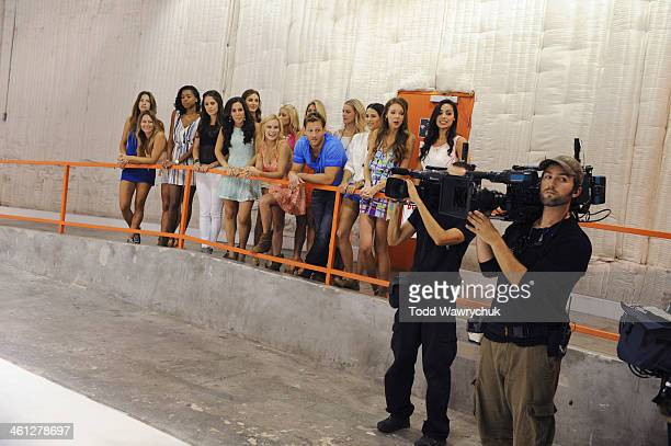 THE BACHELOR Episode 1802 Thirteen women meet up with the handsome single dad for a photo shoot benefitting Models n Mutts an organization that...