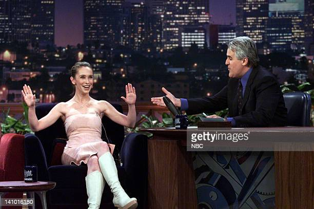 Actress Jennifer Love Hewitt during an interview with host Jay Leno on March 22 2000