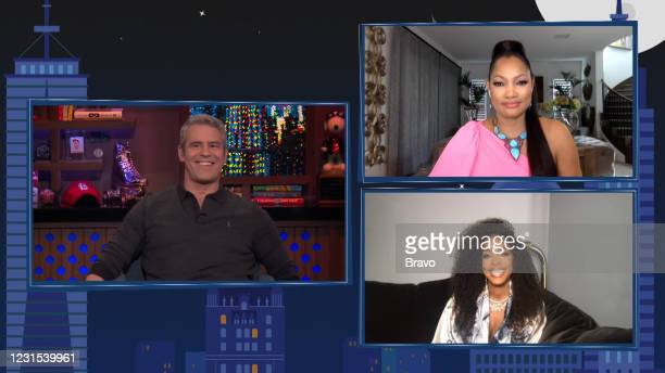 Episode 18044 -- Pictured in this screen grab: Andy Cohen, Kelly Rowland, Garcelle Beauvais --