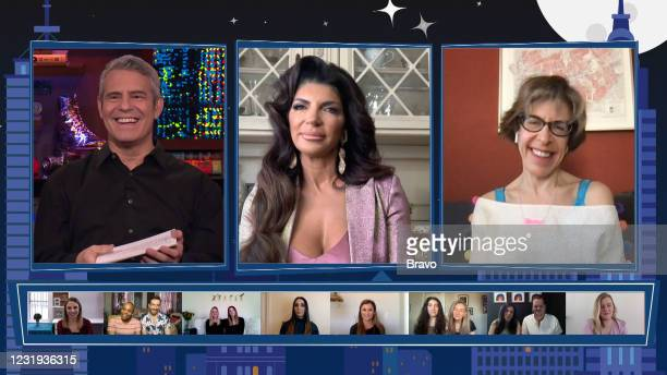 Episode 18058 -- Pictured in this screen grab: Andy Cohen, Teresa Giudice, Jackie Hoffman --