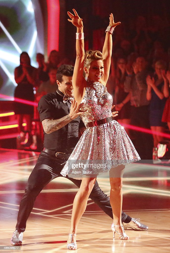 STARS - 'Episode 1806' - It's an all out celebration on 'Dancing with the Stars' as the celebrities got the party started MONDAY, APRIL 21 (8:00-10:01 p.m., ET) on the ABC Television Network. The show kicked off with a spectacular opening performance followed by each couple dancing to some of the greatest party anthems of all time. Additionally, LMFAO frontman Redfoo was the guest judge alongside Len Goodman, Bruno Tonioli and Carrie Ann Inaba. MARK