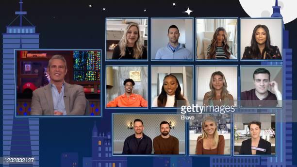 Episode 18084 -- Pictured in this screen grab: Andy Cohen; Briana Culberson, Shane Keough, Brielle Biermann, Riley Burruss; Kairo Whitfield, Noelle...