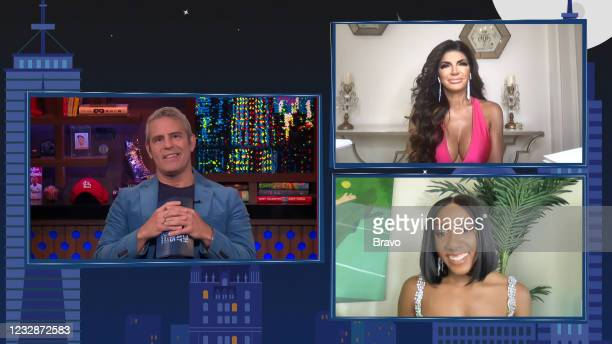 Episode 18087 -- Pictured in this screen grab: Andy Cohen, Ziwe, Teresa Giudice --