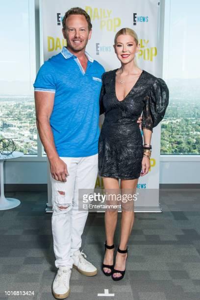 Actors Ian Ziering and Tara Reid pose for a photo