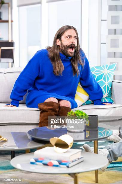 Queer Eye's Jonathan Van Ness during an interview on set