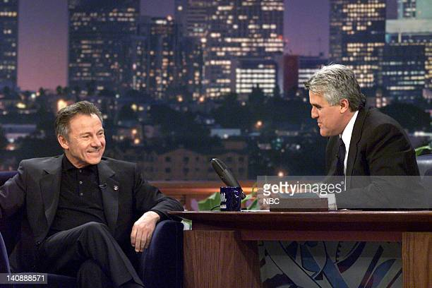 Actor Harvey Keitel during an interview with host Jay Leno on April 17 2000