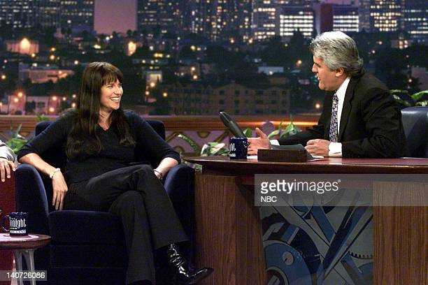 Actress Lucy Lawless during an interview with host Jay Leno on April 11 2000