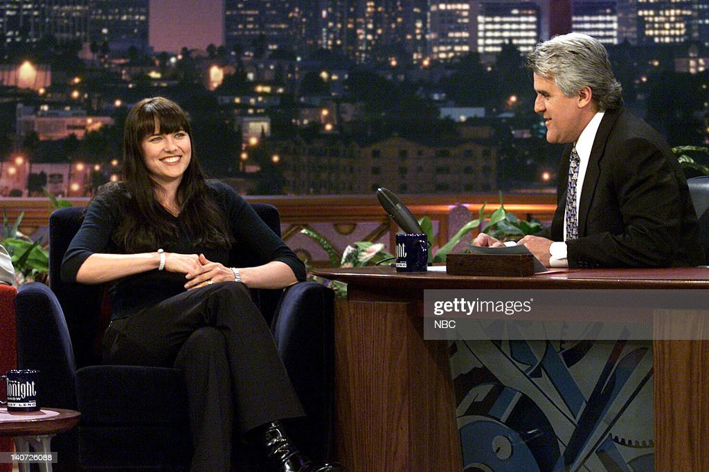 Actress Lucy Lawless during an interview with host Jay Leno on April 11, 2000 --