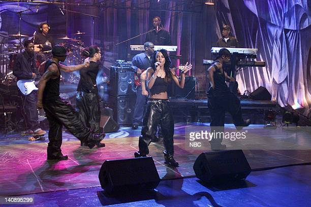 Musical guest Aaliyah performs on April 26 2000