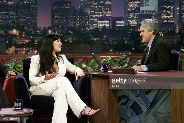 Professional wrestler Chyna during an interview with host Jay Leno on June 16 2000