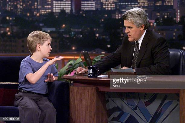 Episode 1868 -- Pictured: Singer Billy Gilman during an interview with host Jay Leno on July, 11 2000 --