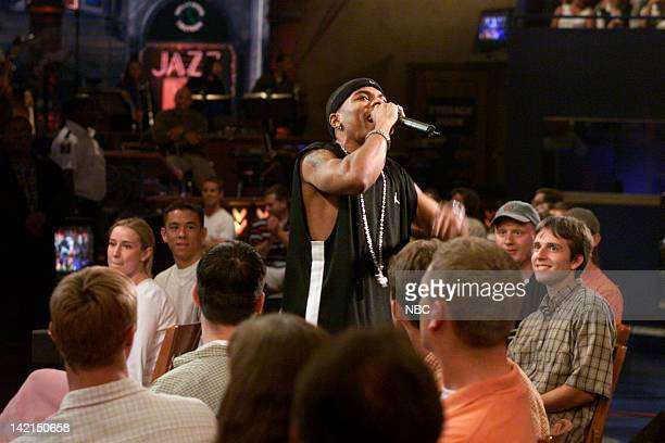 Musical guest Nelly performs on July 19 2000