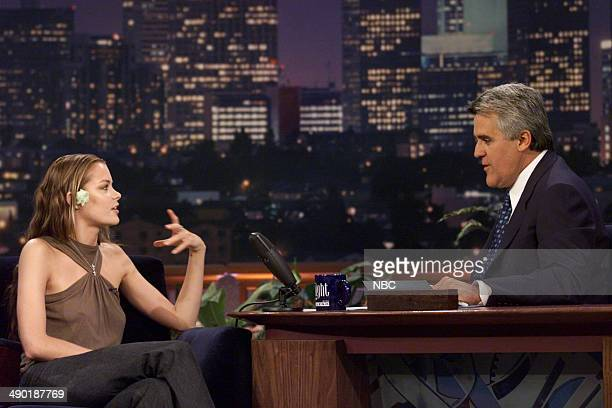Actress Jaime King during an interview with host Jay Leno on July 31 2000