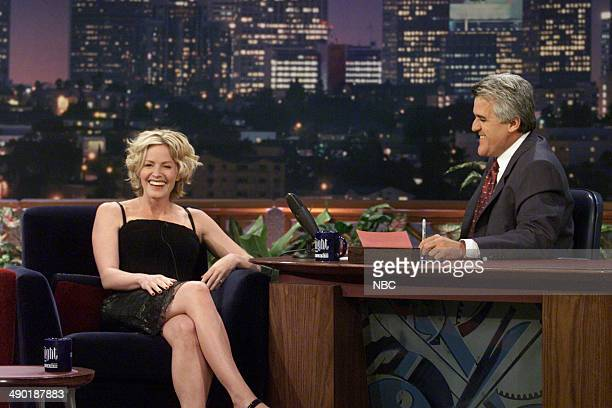 Actress Elisabeth Shue during an interview with host Jay Leno on August 2 2000