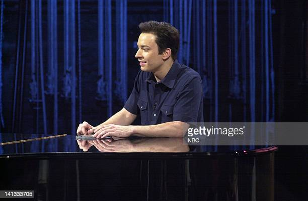 LIVE Episode 19 Air Date Pictured Jimmy Fallon as Carson Daly during the Last Call skit on May 11 2002 Photo by Dana Edelson/NBCU Photo Bank