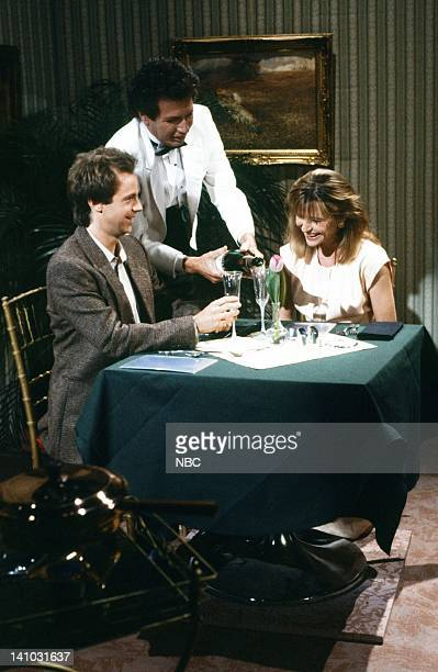 Dana Carvey as Husband Garry Shandling as Waiter Jan Hooks as Wife during the 'Happy Couple' skit on May 16 1987 Photo by Alan Singer/NBC/NBCU Photo...