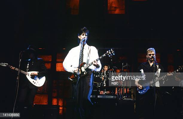 Elliot Easton Ric Ocasek Benjamin Orr of musical guest The Cars performs on May 12 1984 Photo by NBC/NBCU Photo Bank