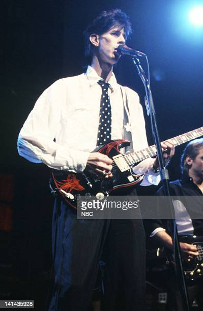 Episode 19 -- Pictured: Singer Ric Ocasek of musical guest The Cars performs on May 12, 1984 -- Photo by: NBC/NBCU Photo Bank