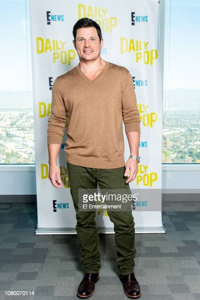 Singer Nick Lachey poses for a photo on set