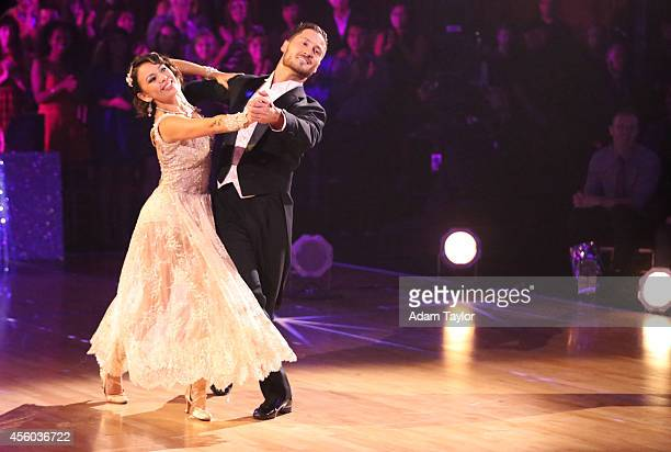"""Episode 1902A"""" -- """"Dancing with the Stars: The Results"""" two-night event continued on TUESDAY, SEPTEMBER 23 where Janel Parrish and Val Chmerkovskiy..."""